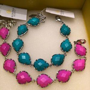 NWT Kendra Scott Brynn Bracelets Magenta Teal😊